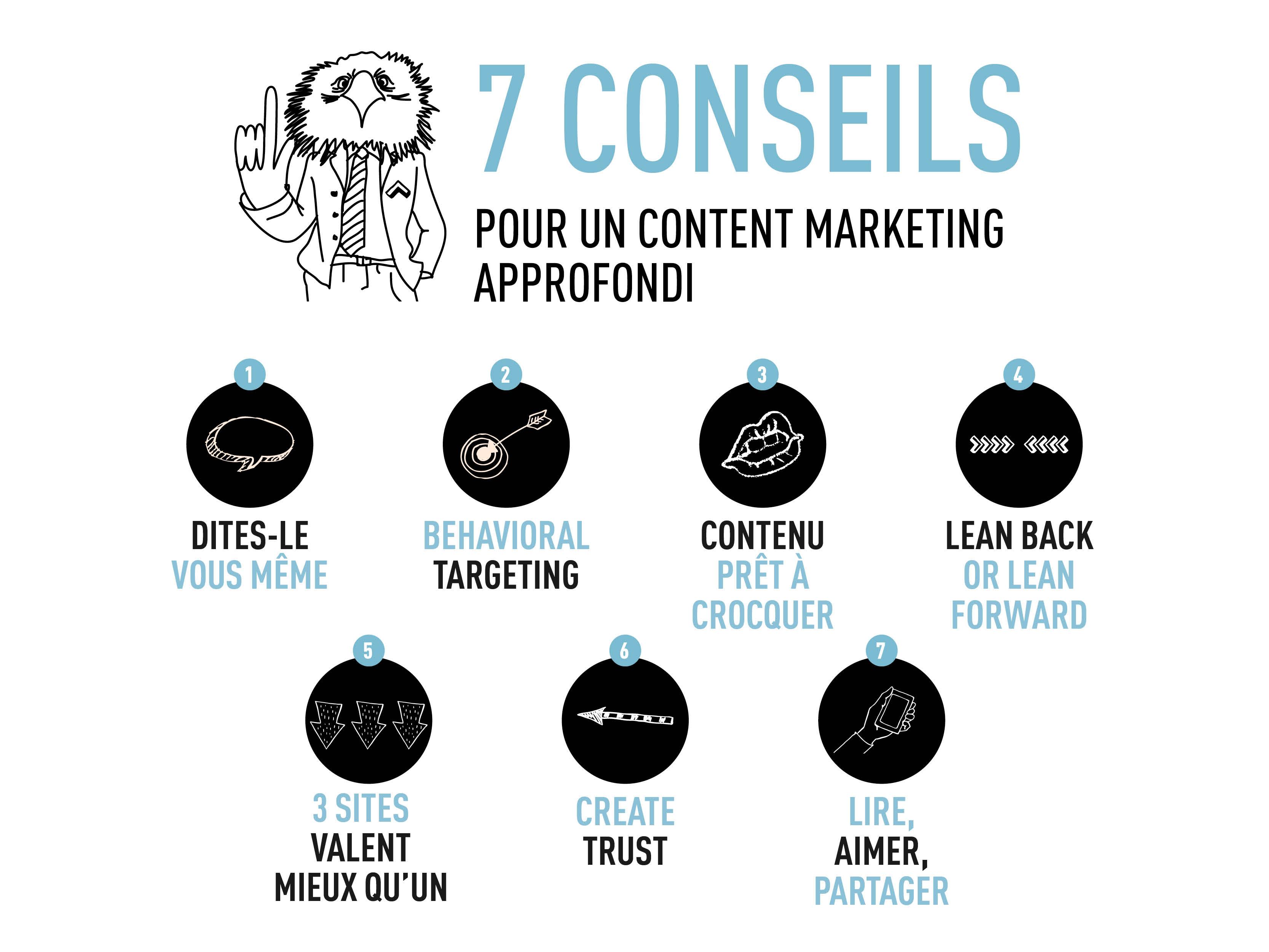 7 conseils pour un content marketing approfondi