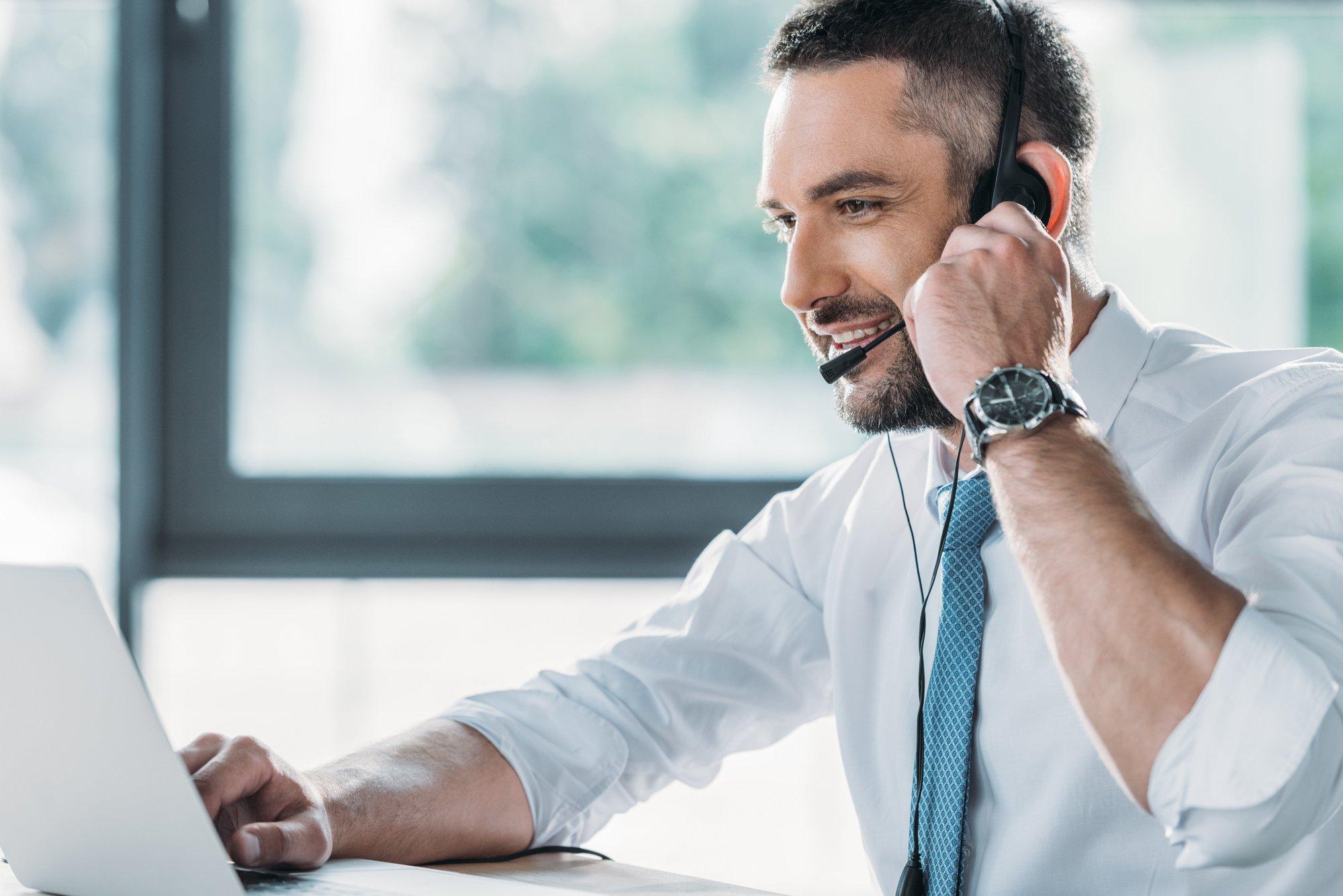 De moderne sales manager in verzekeringen